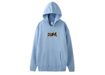 X-Girl Patched Mills Logo Sweat Hoodie Light Blueの写真
