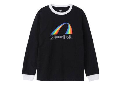 X-Girl Rainbow Ringer L/S Tee Blackの写真