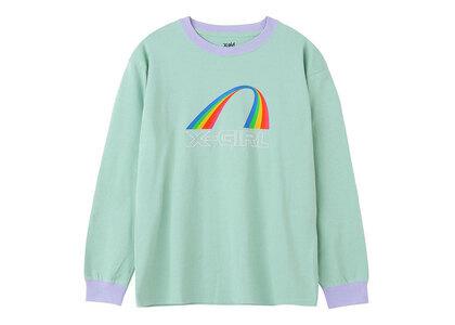 X-Girl Rainbow Ringer L/S Tee Light Greenの写真