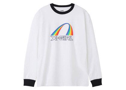 X-Girl Rainbow Ringer L/S Tee Whiteの写真