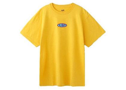 X-Girl Rubber Logo S/S Tee Yellowの写真