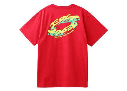 X-Girl Spin Logo S/S Tee Redの写真