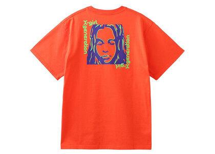 X-Girl Square Frame Face S/S Tee Orangeの写真