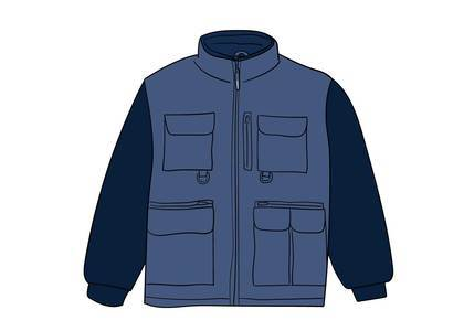 Supreme Upland Fleece Jacket Light Blueの写真