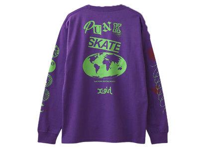 X-Girl T.p.s.w L/S Tee Purpleの写真