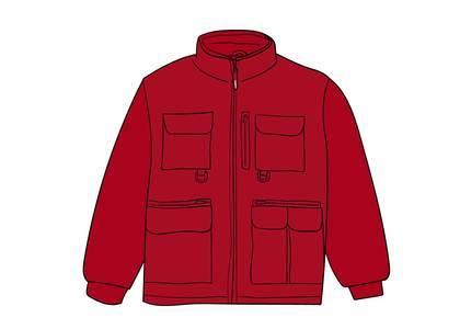 Supreme Upland Fleece Jacket Redの写真