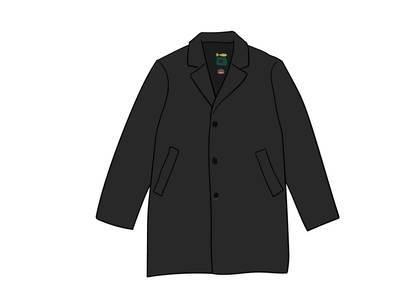 Supreme Schott Leather Overcoat Blackの写真