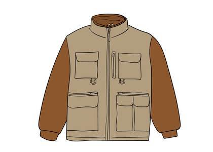 Supreme Upland Fleece Jacket Light Brownの写真
