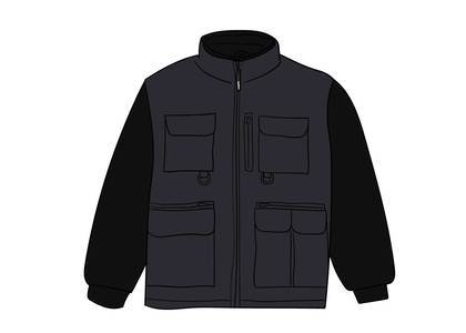 Supreme Upland Fleece Jacket Blackの写真