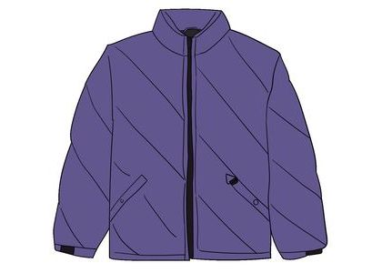 Supreme Iridescent Puffy Jacket Purpleの写真