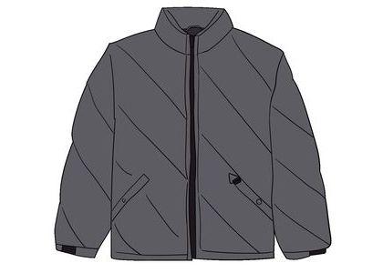 Supreme Iridescent Puffy Jacket Blackの写真