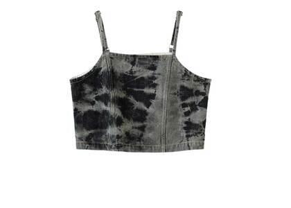 X-Girl Bleached Denim Camisole Blackの写真