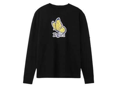 X-Girl Butterfly Regular L/S Tee Blackの写真