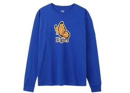 X-Girl Butterfly Regular L/S Tee Blueの写真