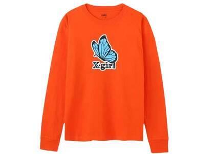 X-Girl Butterfly Regular L/S Tee Orangeの写真