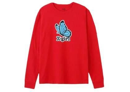 X-Girl Butterfly Regular L/S Tee Redの写真