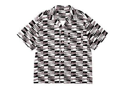 X-Girl Coca-Cola Checker S/S Shirt Blackの写真