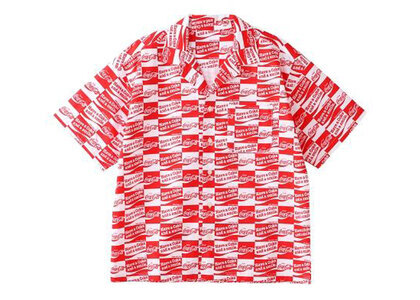X-Girl Coca-Cola Checker S/S Shirt Redの写真