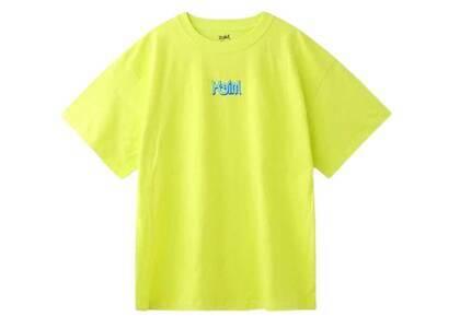 X-Girl Curve Logo S/S Mens Tee Yellowの写真
