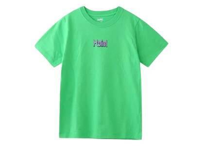 X-Girl Curve Logo S/S Regular Tee Greenの写真