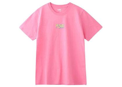 X-Girl Curve Logo S/S Regular Tee Pinkの写真