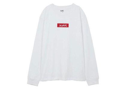 X-Girl Embroidered Box Logo L/S Regular Tee Whiteの写真