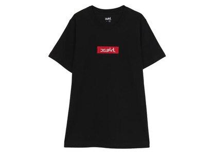 X-Girl Embroidered Box Logo S/S Tee Blackの写真