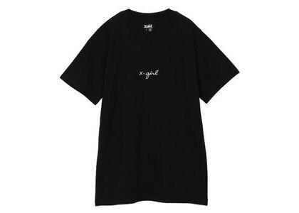 X-Girl Embroidered Cursive Logo S/S Tee Black (1-2)の写真