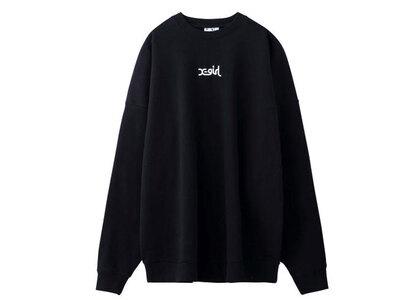 X-Girl Embroidered Mills Logo Crew Sweat Top Blackの写真
