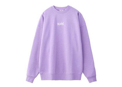 X-Girl Embroidered Mills Logo Crew Sweat Top Light Purpleの写真