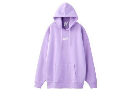 X-Girl Embroidered Mills Logo Sweat Hoodie Light Purpleの写真