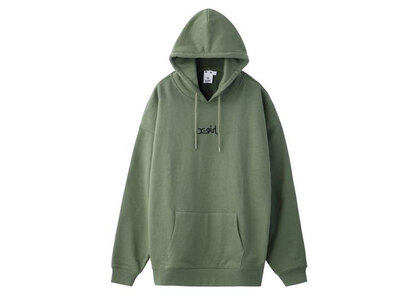 X-Girl Embroidered Mills Logo Sweat Hoodie Oliveの写真