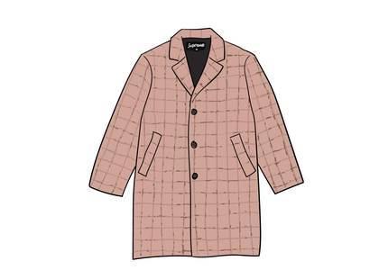 Supreme Wool Windowpane Overcoat Light Pinkの写真