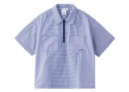 X-Girl Gingham Plaid Shirt Blueの写真
