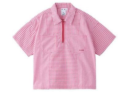 X-Girl Gingham Plaid Shirt Redの写真