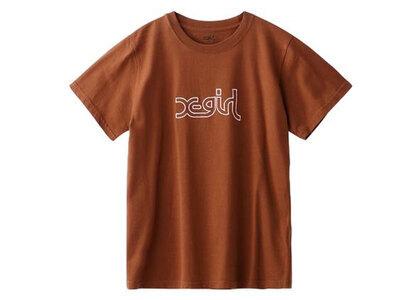 X-Girl Glitter Mills Logo S/S Regular Tee Brownの写真