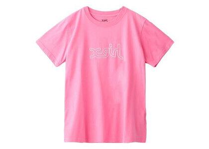X-Girl Glitter Mills Logo S/S Regular Tee Pinkの写真