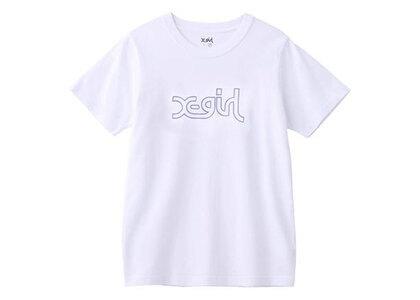 X-Girl Glitter Mills Logo S/S Regular Tee Whiteの写真