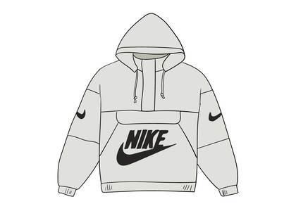 Supreme Nike Leather Anorak Whiteの写真