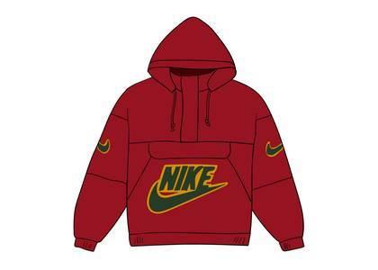 Supreme Nike Leather Anorak Redの写真