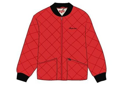 Supreme dead prez Quilted Work Jacket Redの写真