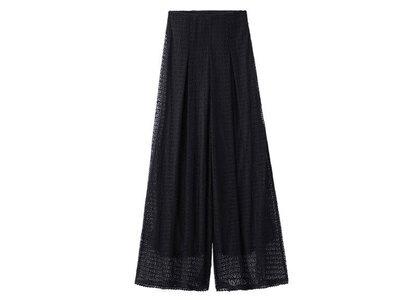 X-Girl Lace Wide Leg Pants Blackの写真