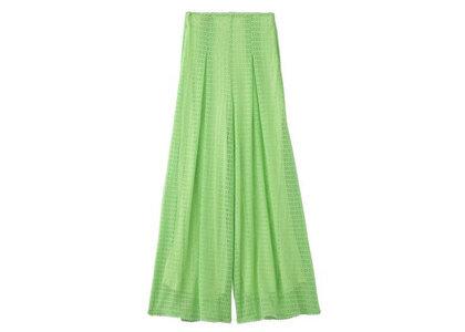 X-Girl Lace Wide Leg Pants Light Greenの写真