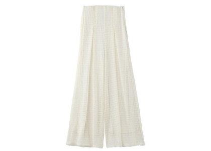 X-Girl Lace Wide Leg Pants Whiteの写真