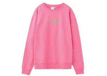 X-Girl Leopard Logo Crew Sweat Top Pinkの写真