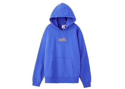 X-Girl Leopard Logo Sweat Hoodie Blueの写真