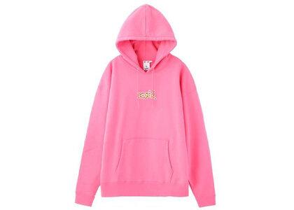 X-Girl Leopard Logo Sweat Hoodie Pinkの写真