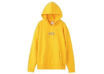 X-Girl Leopard Logo Sweat Hoodie Yellowの写真