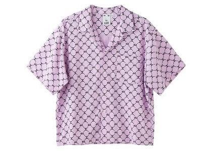 X-Girl Monogram S/S Shirt Light Purpleの写真