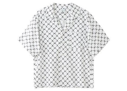 X-Girl Monogram S/S Shirt Whiteの写真